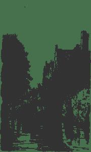 Вид Брюгге иллюстрация